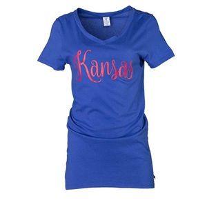 Kansas Jayhawks Ruth Luxurious Tee NWT